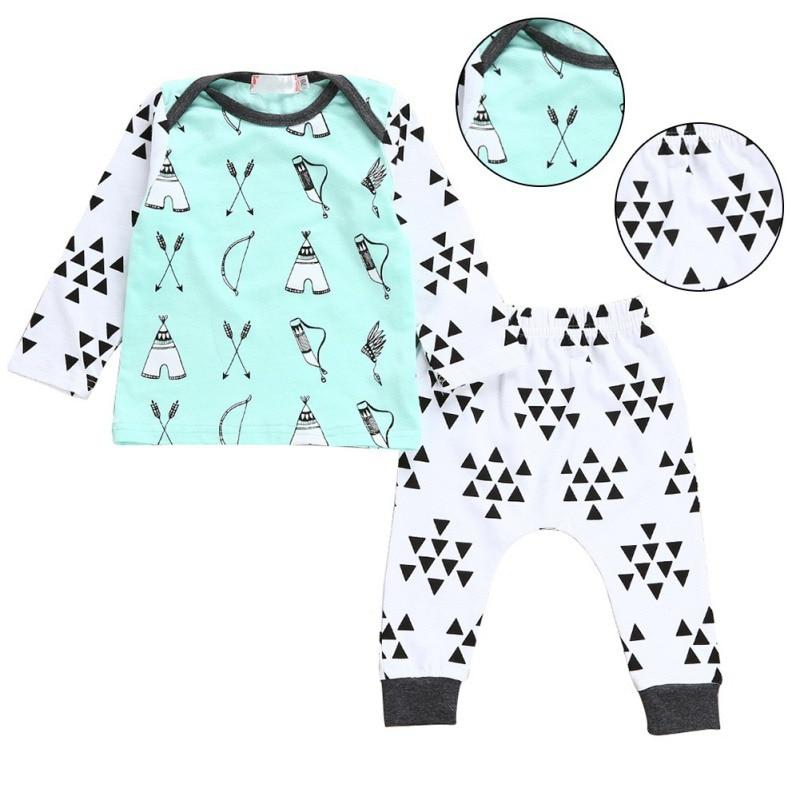2017 primavera otoño bebé niña niño ropa 2PCS conjunto recién - Ropa de bebé