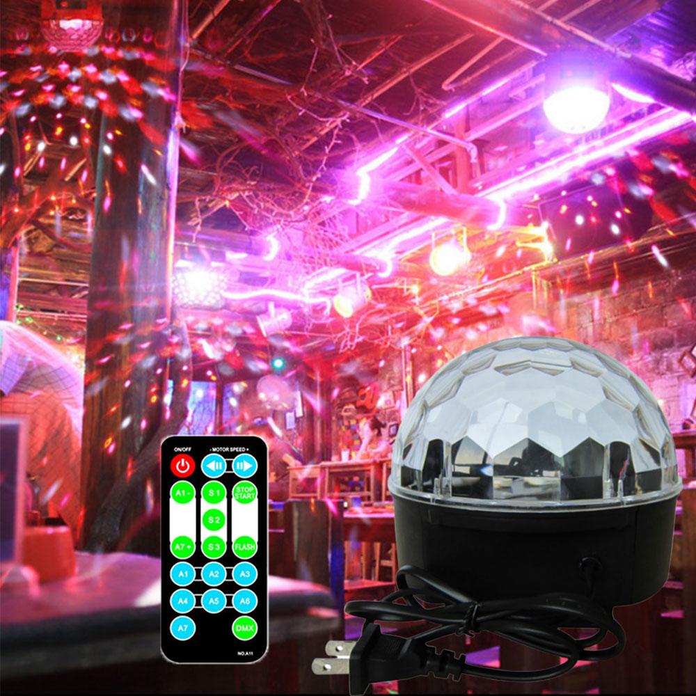 6 Colors Blurtooth Crystal Magic Ball Led Stage Light Sound Control DMX Lumiere Laser Disco Light for Party Home Bar KTV Decor6 Colors Blurtooth Crystal Magic Ball Led Stage Light Sound Control DMX Lumiere Laser Disco Light for Party Home Bar KTV Decor