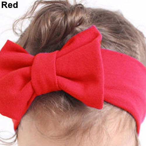 Newborn Girls Cute Sweet Big Bow Headband Headwear Hair Accessories