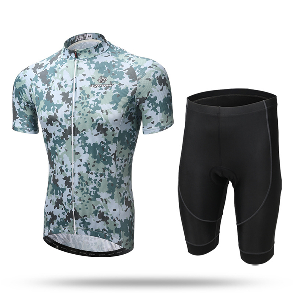 71efae6bf XINTOWN Jungle Camouflage Camo Men s Cycling Bike Bicycle Jersey 3D Padded  Shorts Set Outfit Cycling Jersey Short Set-in Cycling Sets from Sports ...
