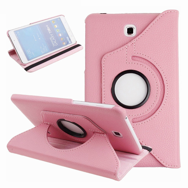 new product 6bf50 5a21a US $5.85 18% OFF|KiKiss Tablet Cover Case For Samsung Galaxy Tab 4 Nook SM  T230 T231 SM T230 7.0 Inch 360 Rotation Flip PU Leather Cover-in Tablets &  ...