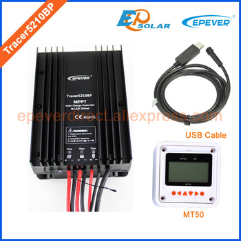 tracer mppt solar charger 24V 12V battery automatic work EPEVER Tracer5210BP 20A 20amps MT50 meter and USB communication cable