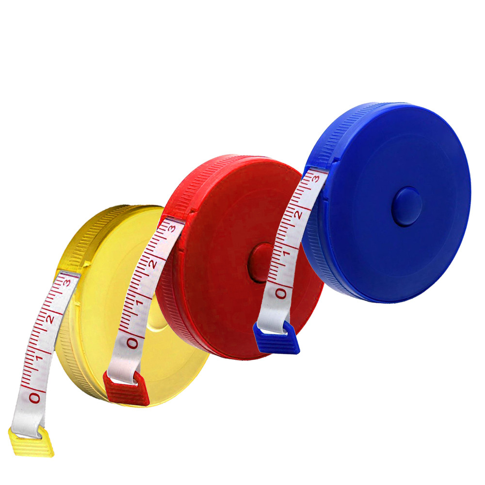 New Qualited 1 Pcs Random Color Tape Measure 150cm Retractable Tape Measure Sewing Dieting Tapeline Ruler Tiny Tool jan16
