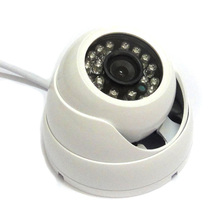 4pcs HD 1/3″ 1000TVL CMOS IR Color Security CCTV Dome Camera Outdoor 24 Leds D/N White