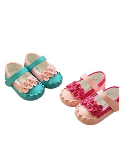 WOW Rosa Azul de Bebé de Cuero Suaves DEL BEBÉ Zapatos de Bebé Zapatos Infantiles Niñas Nuevo Estilo Primeros Caminante Niños Zapatos de Cuero 90223
