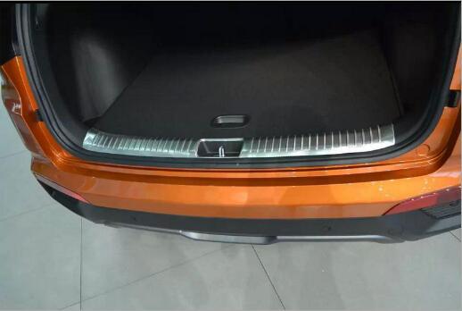 1 ensemble En Acier Inoxydable Voiture Arrières Tronc Intérieure Arrière Queue Boîte Pare-chocs Pédale Plaque Panneau Pour Hyundai ix25