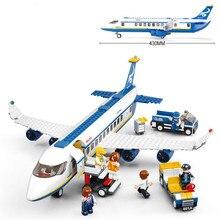 New 463pcs Air Plane Passenger Airport fit legoings city aircraft figures Building Blocks Bricks Boy Toys boy child gift kid set