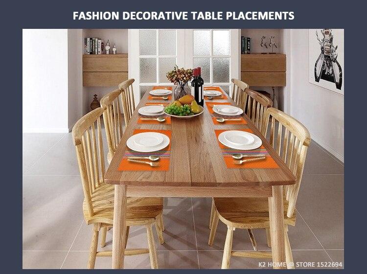 Mesa decorativa para casa tapetes de mesa