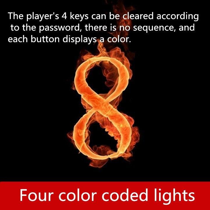 Бесплатная доставка реальная жизнь игры escape номер реквизит Прохладный четыре цвета свет пароль разблокировки Подставка под орган товары