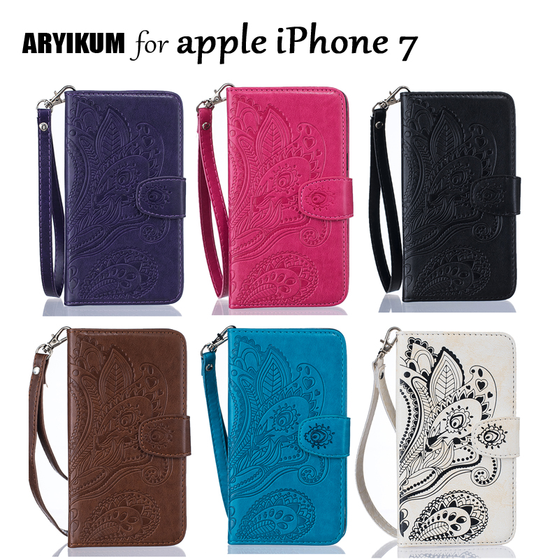 ARYIKUM Luxury Wallet Case For i Phone 7 Filp PU Leather Phone Accessories Cover Capinha For apple iPhone 7 ipone7 Case Coque