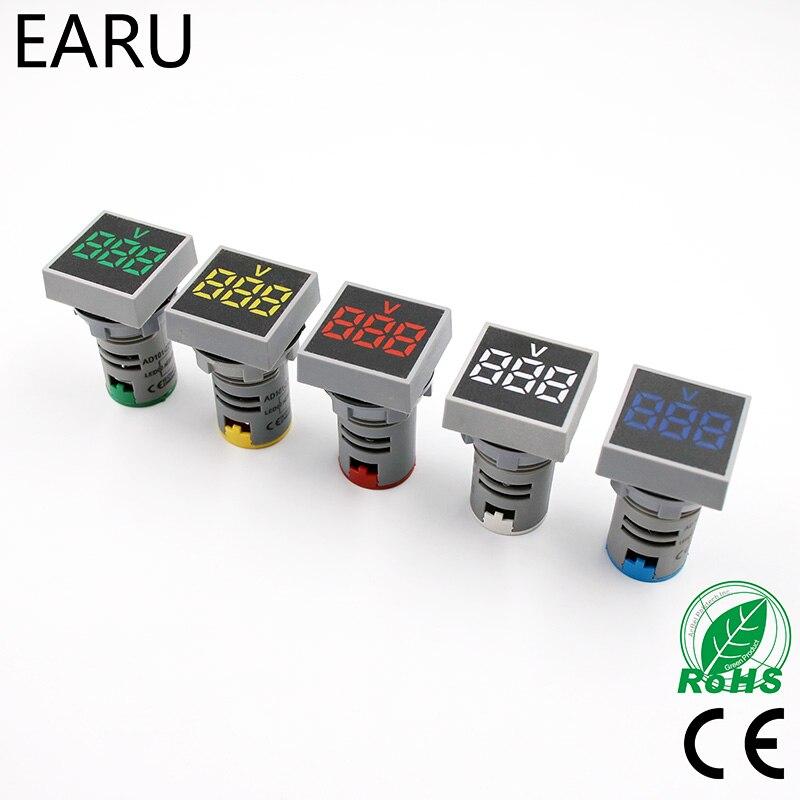 22 мм переменного тока 20-500 В 0-100A вольтметр Напряжение метр Индикатор Сигнальная цифровой светодиодный амперметр Ampermeter актуальная датчик те...