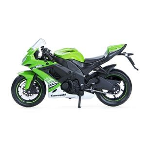 Image 2 - Maisto 1:18 Motorcycle Models Kawasaki Ninja ZX10R Diecast Plastic Moto Miniature Race Toy For Gift Collection