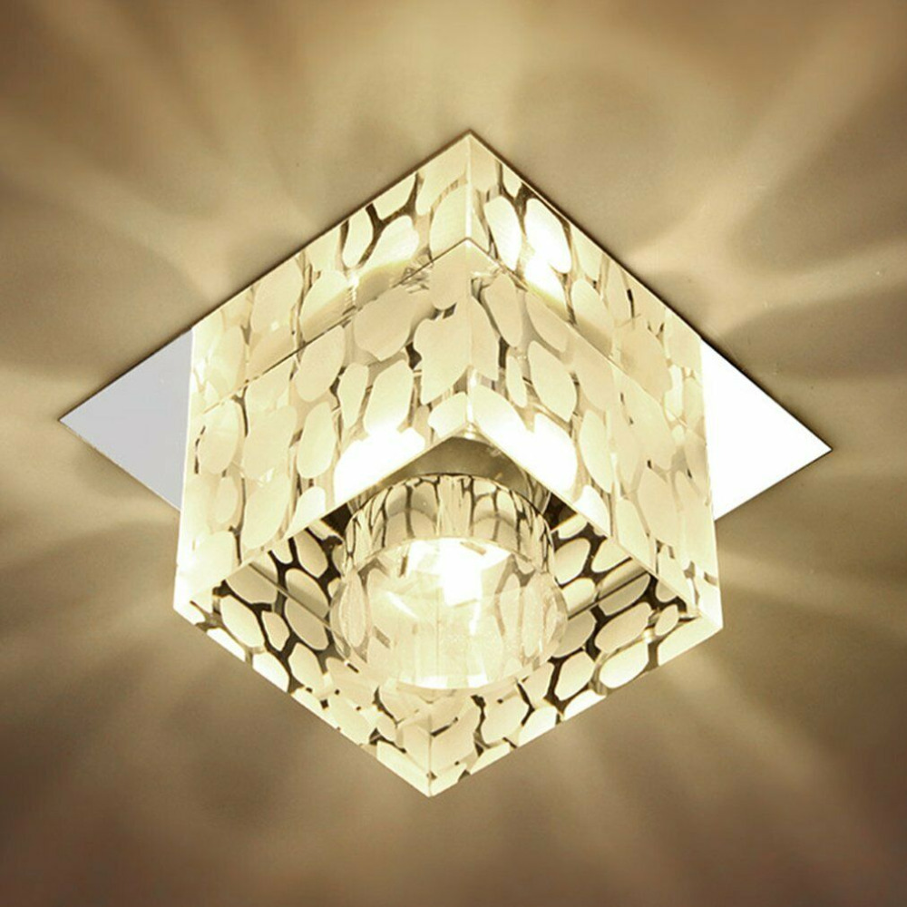 Dikale Modern 5W Crystal LED Ceiling lamp Fixture for Indoor Lamp Surface Mounting Ceiling Lamp crystal celling light