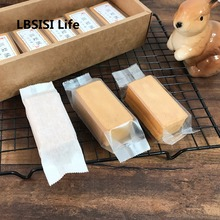 LBSISI Life 100 шт Плоские пищевые пластиковые пакеты бумажная коробка ананас торт конфеты из нуги энергия сыра Упаковочные пакеты для пищевых продуктов дно