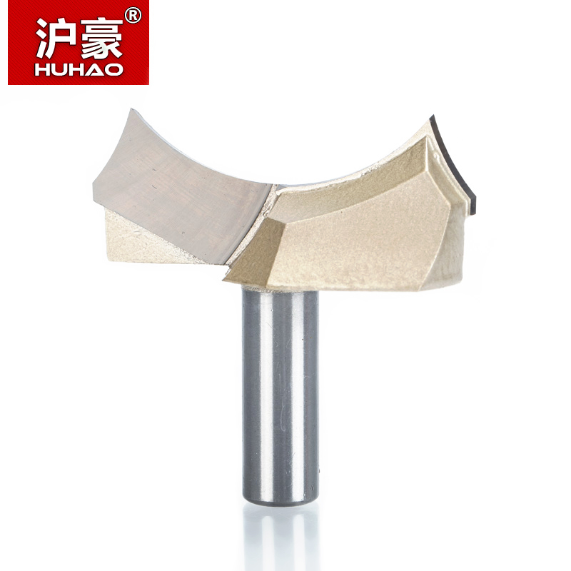 HUHAO 1pcs 1/2*2 Shank Dragon Ball Bit Point-cut Round Over Groove Bits router bits for wood engraving cutter woodworking high grade carbide alloy 1 2 shank 2 1 4 dia bottom cleaning router bit woodworking milling cutter for mdf wood 55mm mayitr