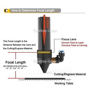 """Image 2 - Cloudray eua cvd znse lente de foco diâmetro. 25/25. 4mm fl50.8/63.5/101.6mm 2 5 """"para co2 gravação a laser máquina de corte frete grátis"""