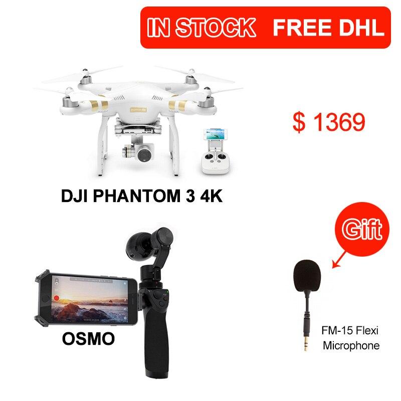 Dji phantom 3 4K version Drone with 4K HD camera with DJI OSMO Handheld 4K Camera and Stabilizer 3-Axis Gimbal phantom DHL free