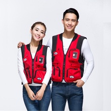 Couple Outdoor Fishing Vest Photography Vest Multi-pocket Overalls Men and Women Fishing Waistcoat Lover Sleeveless Jacket все цены