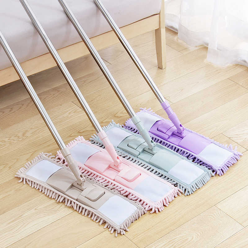 Home Practical Cleaning Pad Refill Household Dust Mop Head Replacement Suitable For Cleaning The Floor Soft Texture Fabric Cloth