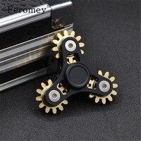 Three Four Gear Linkage EDC Hand Spinner Metal Finger Spinner Tri Spiner Fidget Toys For Autism