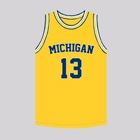 MM MASMIG Moritz Wagner 13 Michigan Basketball Jersey Stitched Yellow