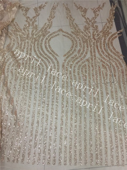 5 yards/bag QQ002 champagne gold  flower  dobby hand  print glued glitter net mesh lace for sawing/Wedding gown dress