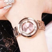 Fashion GUOU Luxury Full Steel Glitter Diamond Ladies Watch Women