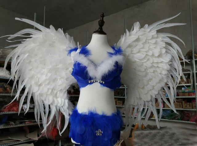 Pure White Adult angel wings show props cosply custume