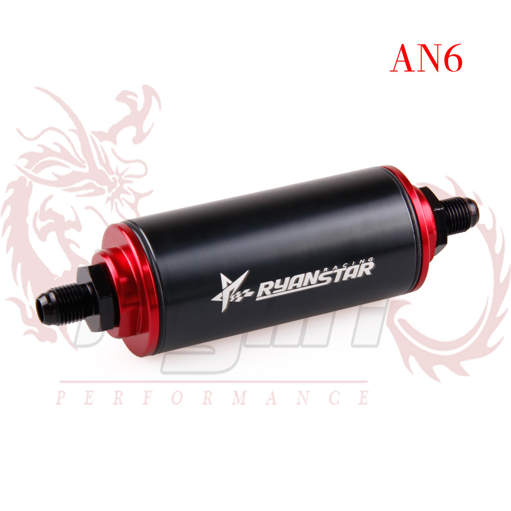 hight resolution of kylin 2015 new design ryanstar aluminum fuel filters an6 car oil filter adapter fittings black color with 100 micron element