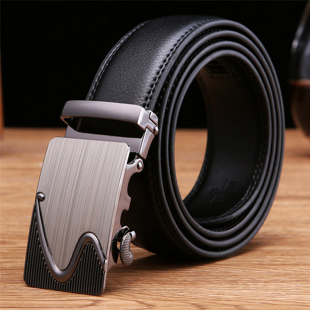 New Designer Men's Belts Luxury Man Fashion Genuine Leather Belt for Man High Quality Automatic Buckle Male Waist Strap for Jean