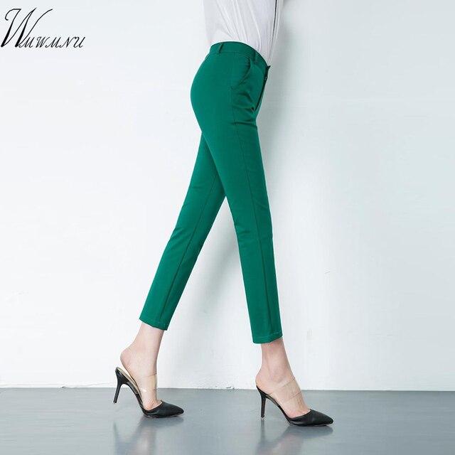 נשים של מזדמן משרד עבודת מכנסיים 2018 מכירה לוהטת אופנה רחוב ללבוש בתוספת גודל 4xl מכנסיים נשים למתוח מכנסי עיפרון S-4XL