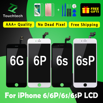 1PC 100% Tested Screen Great AAA+++ for iPhone 6 6P 6S 6SP LCD None spot Display with Touch Digitizer Assembly Free ship+Gifts