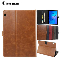Civetman Smart For Huawei MediaPad T3 10 AGS L09 AGS L03 Silk Grain PU Leather Tablet