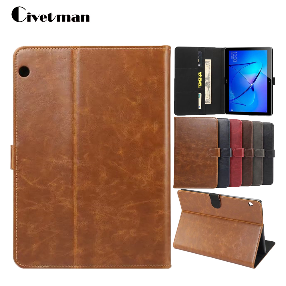 Civetman Smart For Huawei MediaPad T3 10 AGS L09 AGS L03 Silk Grain PU Leather Tablet
