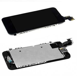 Image 5 - Ensemble complet assemblage complet écran LCD pour iPhone 5 5C 5S LCD écran tactile numériseur bouton daccueil caméra avant + haut parleur avec outils