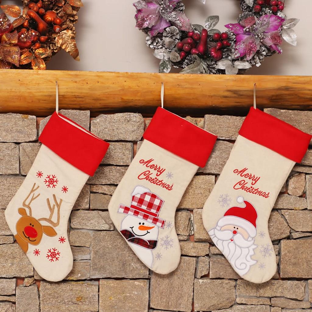 Happy New Year Christmas Stocking Sock Candy Gift Bag Xmas ...