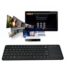 Mini Keyboard dengan USB Receiver untuk Android Smart TV Laptop 2.4G Wireless Keyboard Nirkabel Multi-touch Touchpad Tidak bluetooth(China)