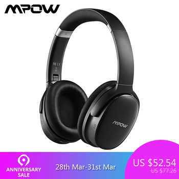 Mpow H10 Active Noise Cancelling Bluetooth Headphone HiFi Stereo ANC Wireless Wired Foldable Headset With Dual Mic For PC Tablet