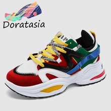 DORATASIA New INS Hot Lovers Colored Sneakers Women 2019 Spring Autumn 35-44 Ladies Tennis Shoes Casual Woman