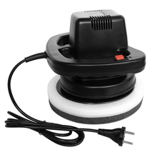 120W Orbital Professional Variable-Speed Polisher with Terry Cloth Bonnet & Synthetic Wool Bonnet for Car Care Polishing/Buffing