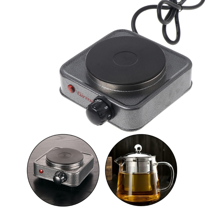 Free_on Mini Electric Stove Coffee Heater Plate 500W Multifunctional Home Appliance Kit