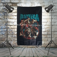PANTERA Heavy Metals Rock Music Banners Hanging Flag Wall Sticker Cafe Theme Hotel Fitting Room Background Decoration