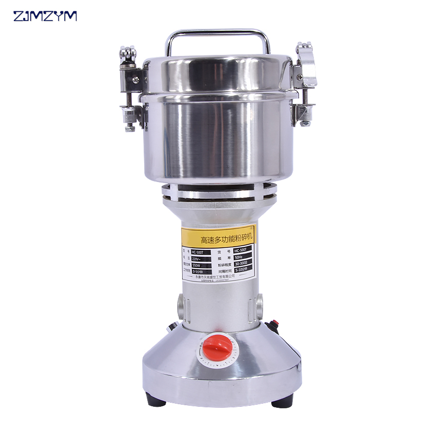 1PC HC-500T2 Swing Portable Grinder 500g Spice Small Food Flour Mill Grain Powder Machine Coffee Soybean Pulverizer multifunction corn flour mill machine home use manual maize rice soybean peanut coffee cocoa beans grain grinder