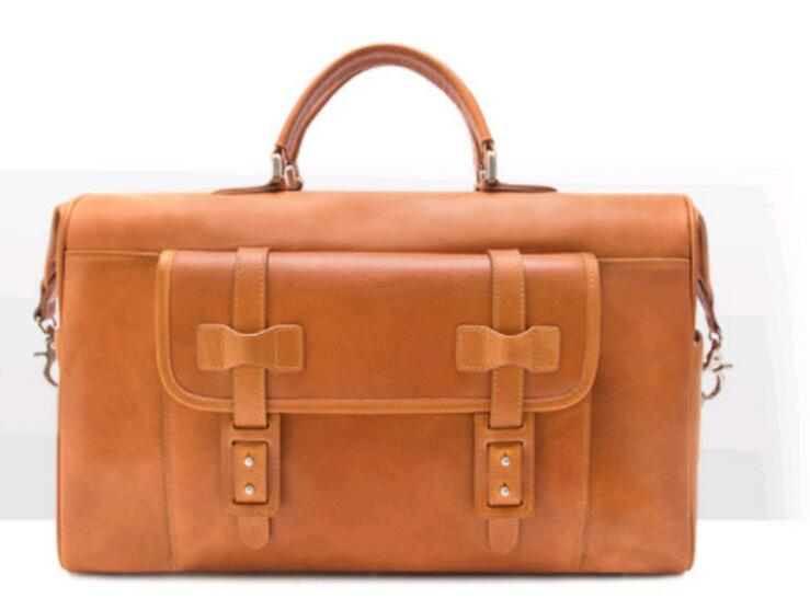 2019 New In Genuine Leather Cow Skin Large Capacity Men's Travel Duffle Bag