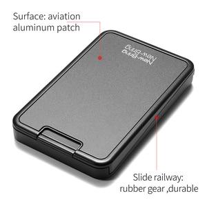 Image 5 - Card Holder Metal Sliding Wallet Card Case Wallet For Men Women Male Female