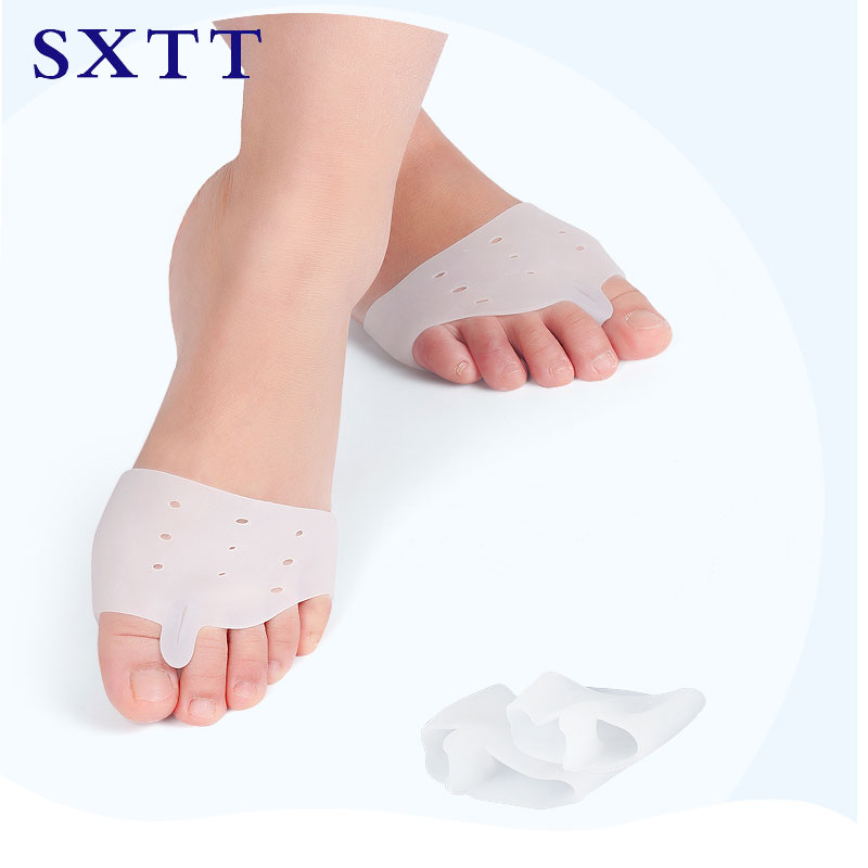 insoles thumb valgus correction orthopedic Silicone Gel Insoles forefoot insert Pad High Heel shock Anti Slippery Feet Pain