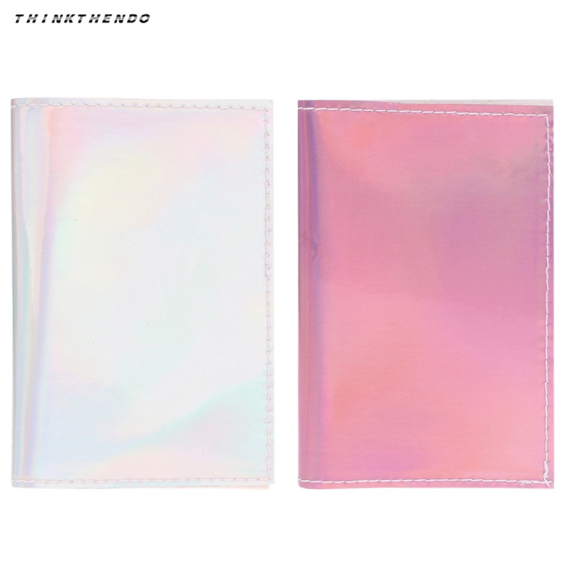 THINKTHENDO Fashion New Women ID Card Laser Case Cover Girls Multifunction Credit Protector Travel Passport Holder High Quality