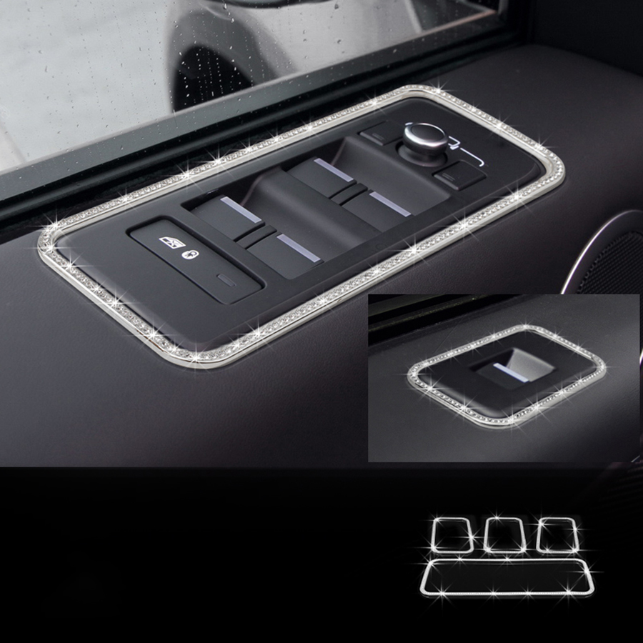 4pcs Door Window Button Trim For Land Rover Discovery 5 2017 Accessories Car Styling коврики в салон land rover range rover evoque 2011