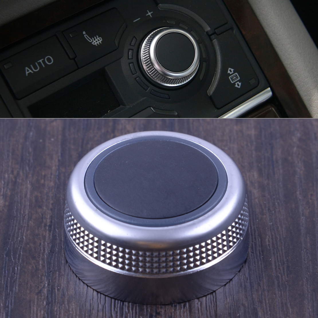 CITALL Chrome Plated Multimedia Rotary Knob Main Menu Control Switch Cover Cap 4F0919069 for <font><b>Audi</b></font> A6 <font><b>A8</b></font> Quattro Q7 2007 <font><b>2008</b></font> image