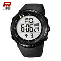 TTLIFE Luminous LED Large Face Mens Watches Waterproof Shockproof Stopwatch Calendar Backlight Digital Sports Watch Men Alarm